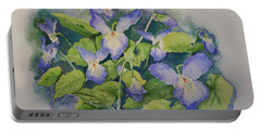 Wild Violets Portable Battery Charger