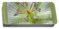 Portable Battery Charger featuring the photograph Wild White Geranium  by Ann E Robson
