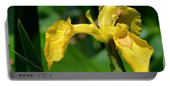 Wild Yellow Iris Portable Battery Charger