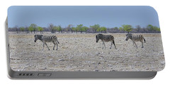 Portable Battery Charger featuring the photograph Wild Zebra Panoramic by Ernie Echols