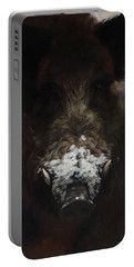 Wildboar With Snowy Snout Portable Battery Charger