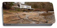 Portable Battery Charger featuring the photograph Wildcat Bridge In Winter by Mary Jo Allen