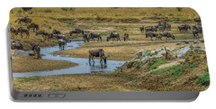 Wildebeest In The Tarangire Portable Battery Charger