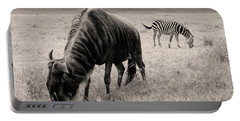 Wildebeest And Zebra Portable Battery Charger