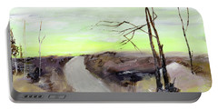 Portable Battery Charger featuring the painting Wilderness 2 by Anil Nene