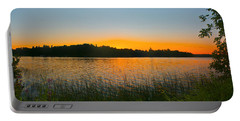 Wilderness Point Sunset Panorama Portable Battery Charger