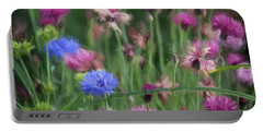 Wildflower Art 1 Portable Battery Charger by Bonnie Bruno