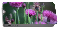 Wildflower Art 2 Portable Battery Charger by Bonnie Bruno