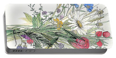 Wildflower Bouquet Portable Battery Charger