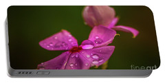 Wildflower Dew Drops Portable Battery Charger by Tom Claud