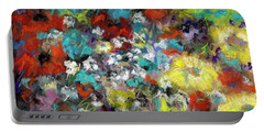 Portable Battery Charger featuring the painting Wildflower Field by Frances Marino