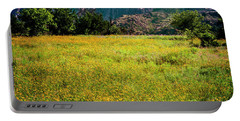 Wildflower Field In The Wichita Mountains Portable Battery Charger