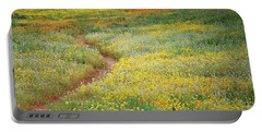 Portable Battery Charger featuring the photograph Wildflower Field Near Diamond Lake In California by Jetson Nguyen