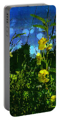 Portable Battery Charger featuring the photograph Wildflower Field by Shawna Rowe