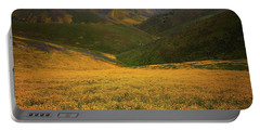 Wildflower Field Up In The Temblor Range At Carrizo Plain National Monument Portable Battery Charger