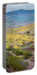 Wildflower Meadows Portable Battery Charger by Karen Stephenson