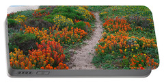 Wildflower Path At Ribera Beach Portable Battery Charger