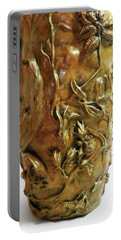 Wildflower Promise - Bronze Vase - Detail 2 Portable Battery Charger by Dawn Senior-Trask