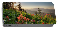 Wildflower View Portable Battery Charger