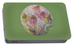 Portable Battery Charger featuring the painting Wildflowers 2 by Mary Wolf