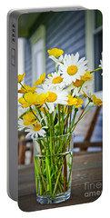 Wildflowers Bouquet At Cottage Portable Battery Charger