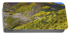 Wildflowers Galore At Carrizo Plain National Monument In California Portable Battery Charger by Jetson Nguyen