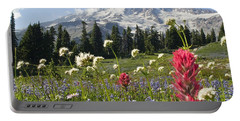 Wildflowers In Mount Rainier National Portable Battery Charger