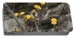 Wildflowers In Rocks Portable Battery Charger