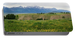 Wildflowers In The Grand Teton National Park Portable Battery Charger by Serge Skiba