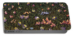 Portable Battery Charger featuring the painting Wildflowers by James W Johnson