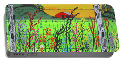 Wildflowers On The Farm Portable Battery Charger
