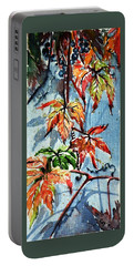 Portable Battery Charger featuring the painting Wildgrape by Kovacs Anna Brigitta