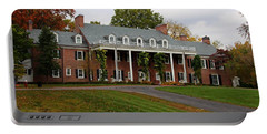 Wildwood Manor House In The Fall Portable Battery Charger by Michiale Schneider