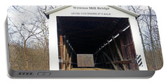 Wilkins Mill Covered Bridge Indiana Portable Battery Charger