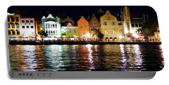 Portable Battery Charger featuring the photograph Willemstad, Island Of Curacoa by Kurt Van Wagner