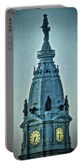 Portable Battery Charger featuring the photograph William Penn On Top by Joan Reese