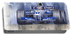 Williams Bmw Fw24 2002 Juan Pablo Montoya Portable Battery Charger