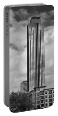 Williams Tower In Black And White Portable Battery Charger