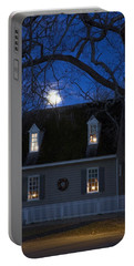 Williamsburg House In Moonlight Portable Battery Charger