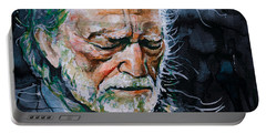 Willie Nelson 7 Portable Battery Charger by Laur Iduc