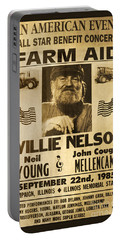 Willie Nelson Neil Young 1985 Farm Aid Poster Portable Battery Charger