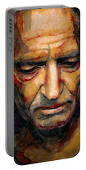 Willie Nelson Portrait 2 Portable Battery Charger by Laur Iduc