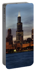 Willis Tower At Dusk Aka Sears Tower Portable Battery Charger by Adam Romanowicz