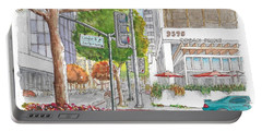 Wilshire Blvd. And Camden Dr. In Beverly Hills, California Portable Battery Charger by Carlos G Groppa