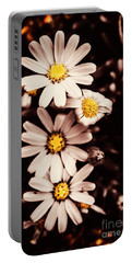 Wilting And Blooming Floral Daisies Portable Battery Charger