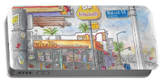 Winchells Donut House In Melrose And Detriot St., Hollywood, California Portable Battery Charger by Carlos G Groppa
