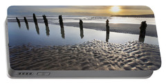 Winchelsea Beach At Dusk Portable Battery Charger
