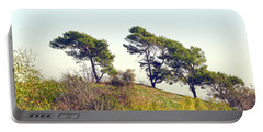 Wind Blown Trees Portable Battery Charger