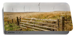 Wind Farm On Miller's Moss. Portable Battery Charger