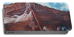 Wind Horse Canyon Portable Battery Charger by Karen Kennedy Chatham